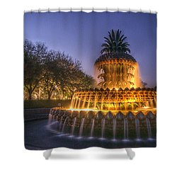 Charleston Pineapple Fountain Shower Curtain