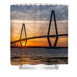 Charleston Sun Setting  Shower Curtain