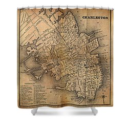 Charleston Vintage Map No. I Shower Curtain