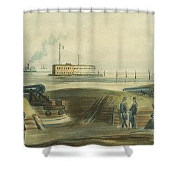 Charlestons Defense Circa 1863 Shower Curtain by Aged Pixel
