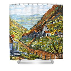 Charlevoix Valley By Prankearts Shower Curtain by Richard T Pranke