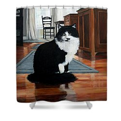Charlie Shower Curtain by Eileen Patten Oliver