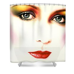 Charlie Girl Shower Curtain by Andrew Farley