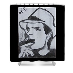 Charlie Sheen Shower Curtain by Kathy Marrs Chandler