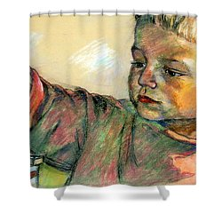Charlie Shower Curtain by Stan Esson