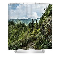 Shower Curtain featuring the photograph Charlies Bunion Trail by Debbie Green