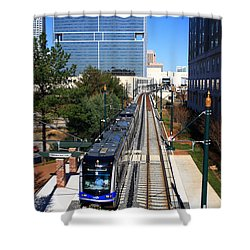 Charlotte Light Rail Shower Curtain