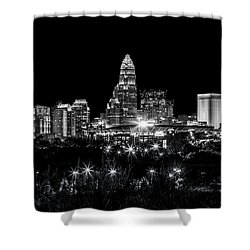 Charlotte Night Shower Curtain by Chris Austin