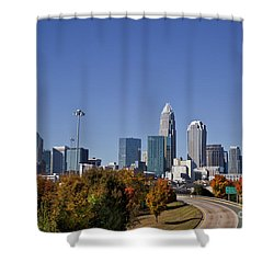 Charlotte North Carolina Shower Curtain