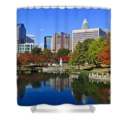 Charlotte North Carolina Marshall Park Shower Curtain