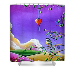 Cherish Shower Curtain by Cindy Thornton