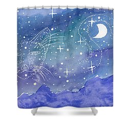 Charmed Night Shower Curtain