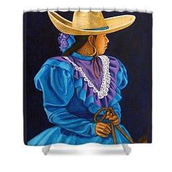 Charra Linda Shower Curtain by Pat Haley