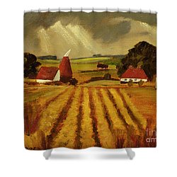 Chart Sutton Shower Curtain by Eric Hains