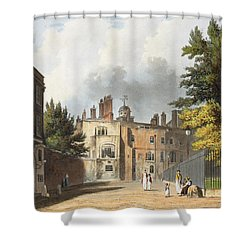 Charter House From The Square Shower Curtain by William Westall
