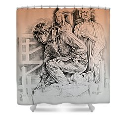 Chartres Cathedral Shower Curtain by Derrick Higgins