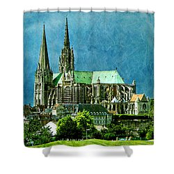 Chartres Cathedral Shower Curtain by Nikolyn McDonald