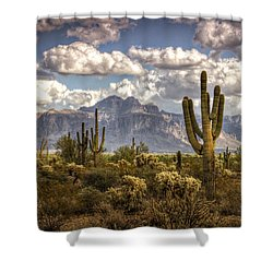 Chasing Clouds Two  Shower Curtain by Saija  Lehtonen