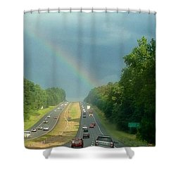 Chasing The Rainbow Shower Curtain