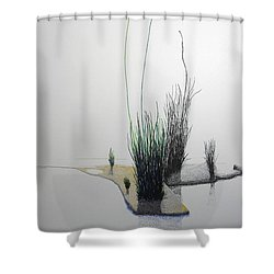 Chasm Shower Curtain by A  Robert Malcom