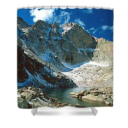 Chasm Lake Shower Curtain by Eric Glaser
