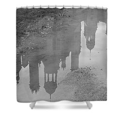 Chateau Chambord Reflection Shower Curtain by HEVi FineArt