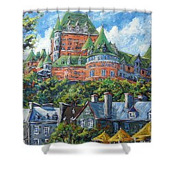 Chateau Frontenac By Prankearts Shower Curtain by Richard T Pranke