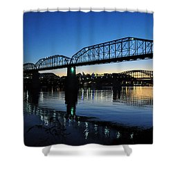 Tennessee River Bridges Chattanooga Shower Curtain