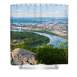 Chattanooga Spring Skyline Shower Curtain by Melinda Fawver