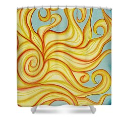 Chatting Sun Shower Curtain