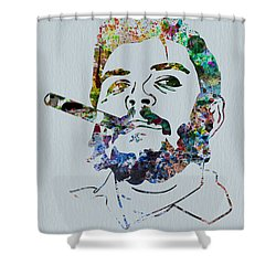 Che Watercolor Shower Curtain by Naxart Studio