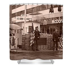 Check Point Charlie Shower Curtain