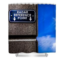 Check Your  Radar Here Shower Curtain by Bob Orsillo