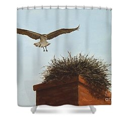 Checking The Nest Shower Curtain