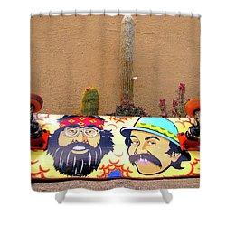 Shower Curtain featuring the photograph Cheech N Chong  by John King