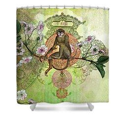 Cheeky Monkey Shower Curtain by Aimee Stewart