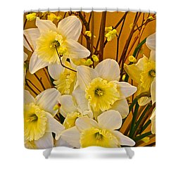 Cheerful Warmth Of Spring Shower Curtain by Byron Varvarigos