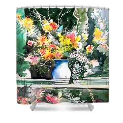 Cheers Shower Curtain by Anil Nene