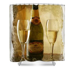 Cheers Shower Curtain by Lucinda Walter