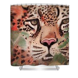 Cheetah In The Grass Shower Curtain