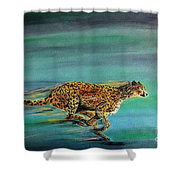Cheetah Run Shower Curtain