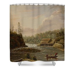 Cheevers Mill On The St. Croix River Shower Curtain by Henry Lewis
