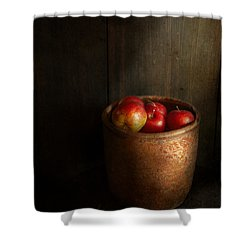 Chef - Fruit - Apples Shower Curtain by Mike Savad