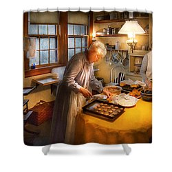Chef - Kitchen - Coming Home For The Holidays Shower Curtain by Mike Savad