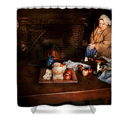 Chef - Kitchen - Today's Menu  Shower Curtain by Mike Savad