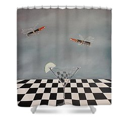 Chella's Martini Shower Curtain by John Lyes