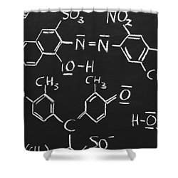 Chemical Formulas Shower Curtain