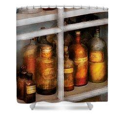 Chemist - Flavor Lab Shower Curtain by Mike Savad