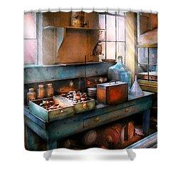 Chemist - Making Glue Shower Curtain by Mike Savad