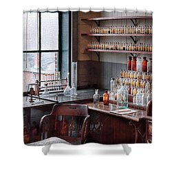 Chemist - Perfume Science  Shower Curtain by Mike Savad